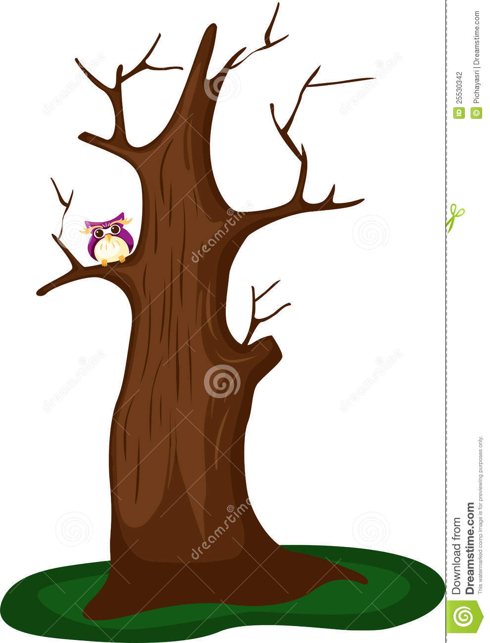 Dead Tree With Owl Stock Photography - Image: 25530342