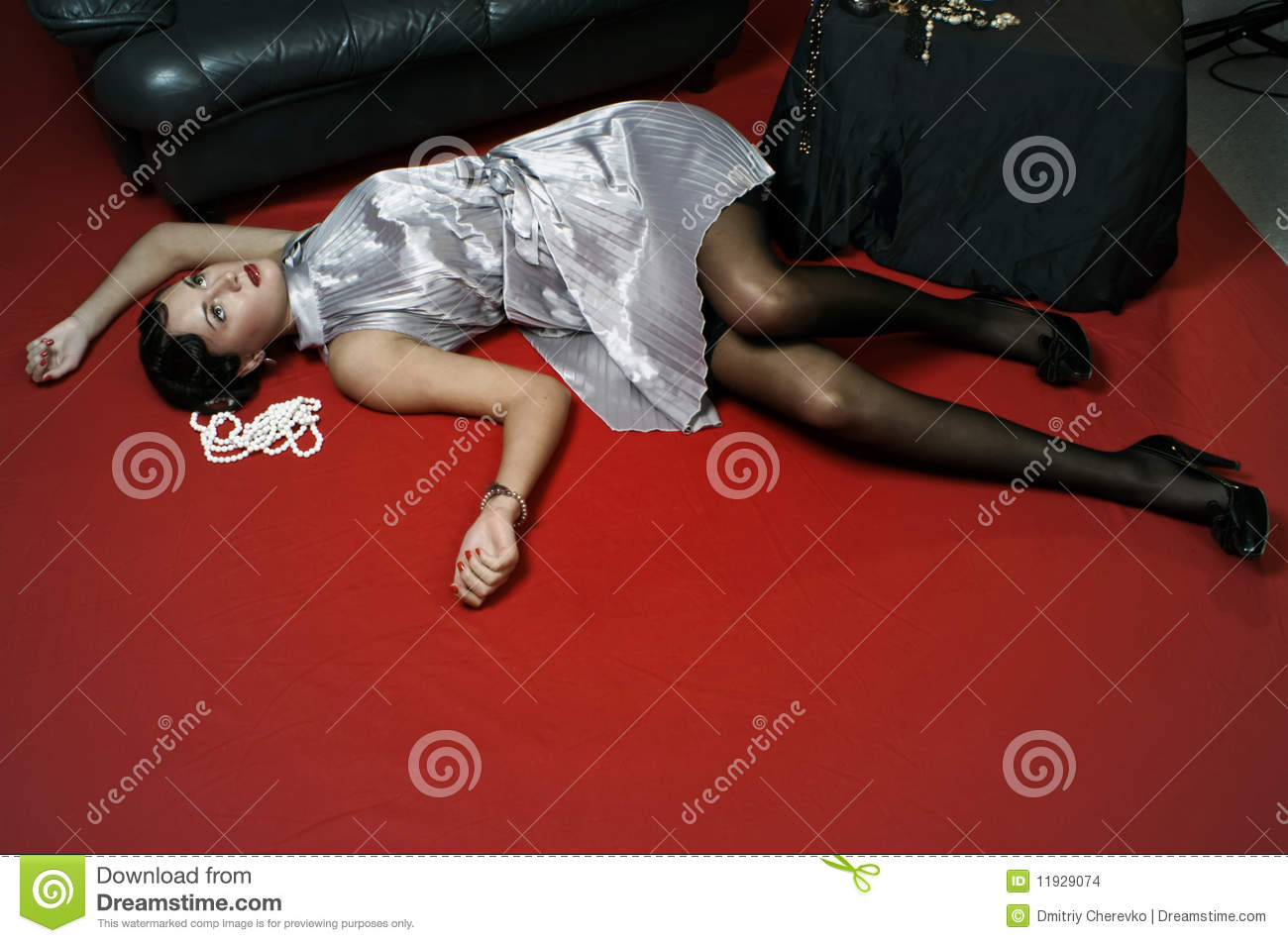 Dead Woman Lying On The Floor Stock Images - Image: 11929074