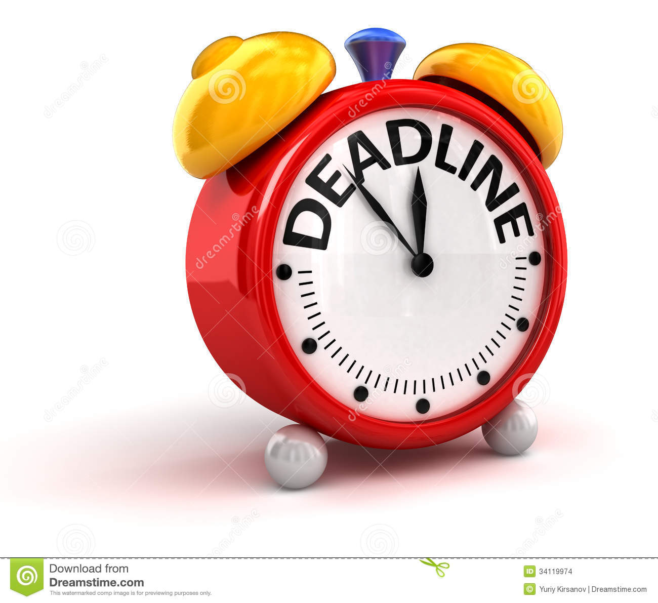 Deadline Time Stock Images - Image: 34119974