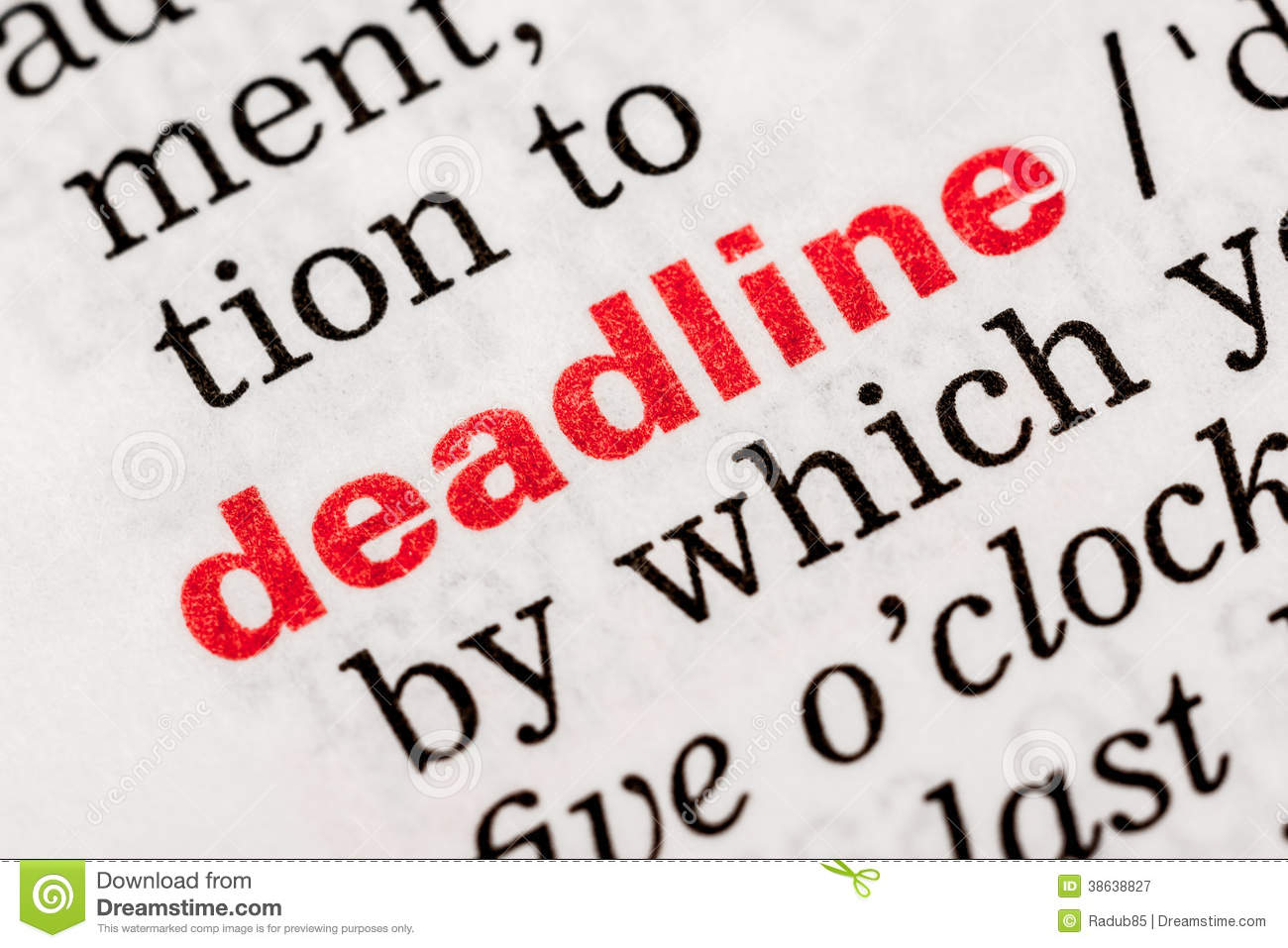 Business Administration wikipedia deadline