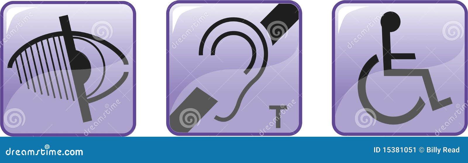 Deaf Blind Disabled Symbols Stock Image Image 15381051