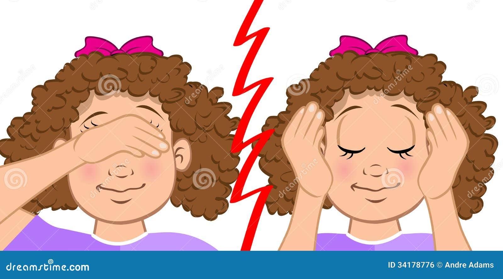 Deaf And Blind Girl Stock Vector Illustration Of Ears