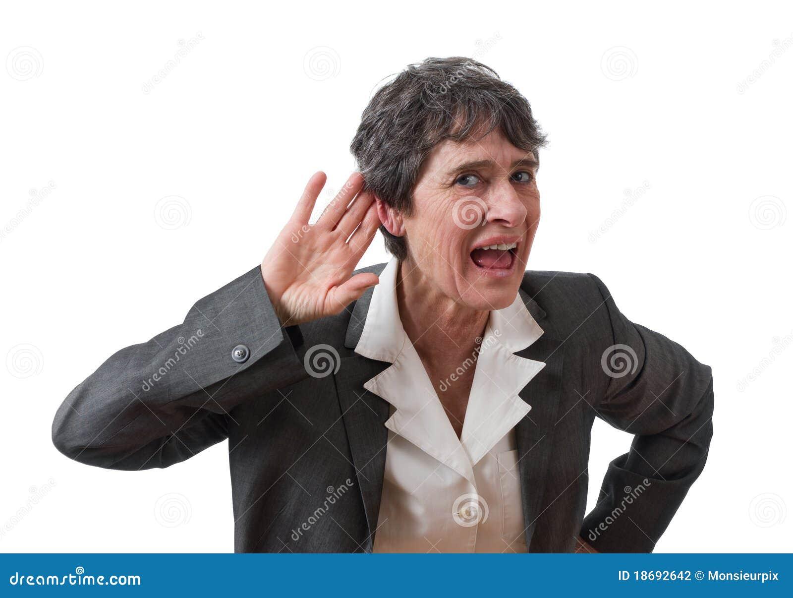 Deaf businesswoman