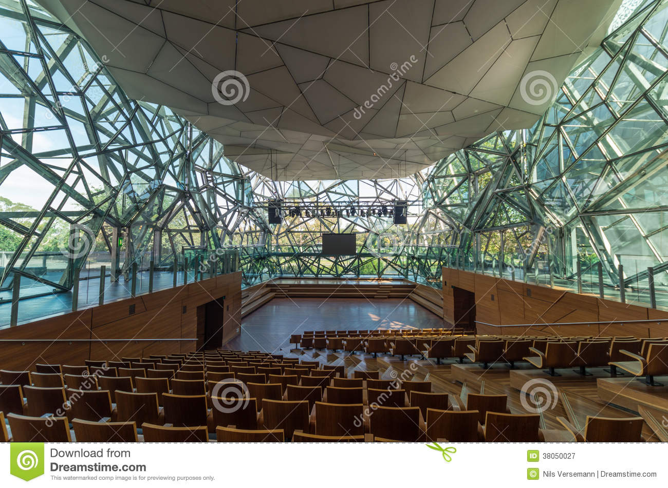 Deaking Edge Theatre At Federation Square Stock Image
