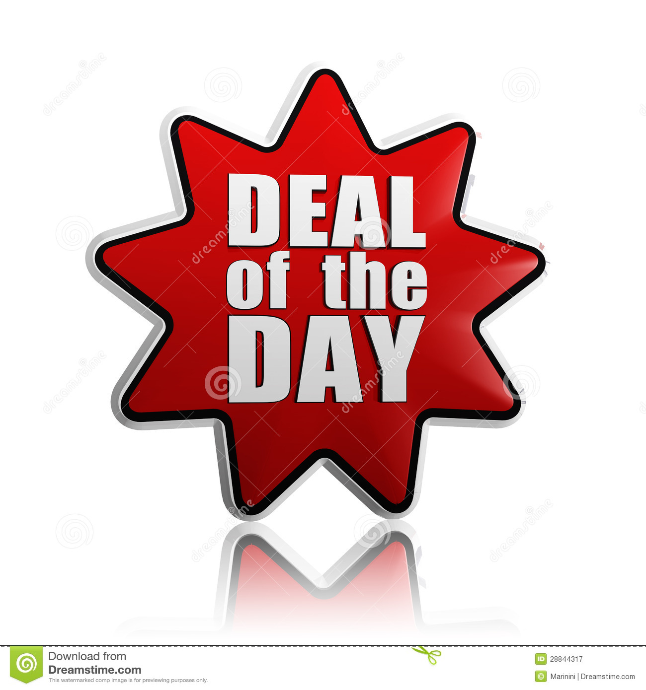 Deal of the day in red star royalty free stock photography image