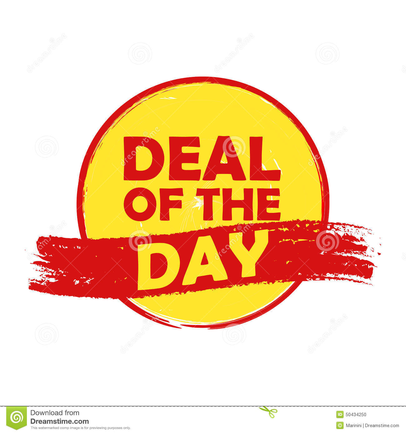 Summer Deal Of The Day, Yellow And Orange Drawn Label Stock ...