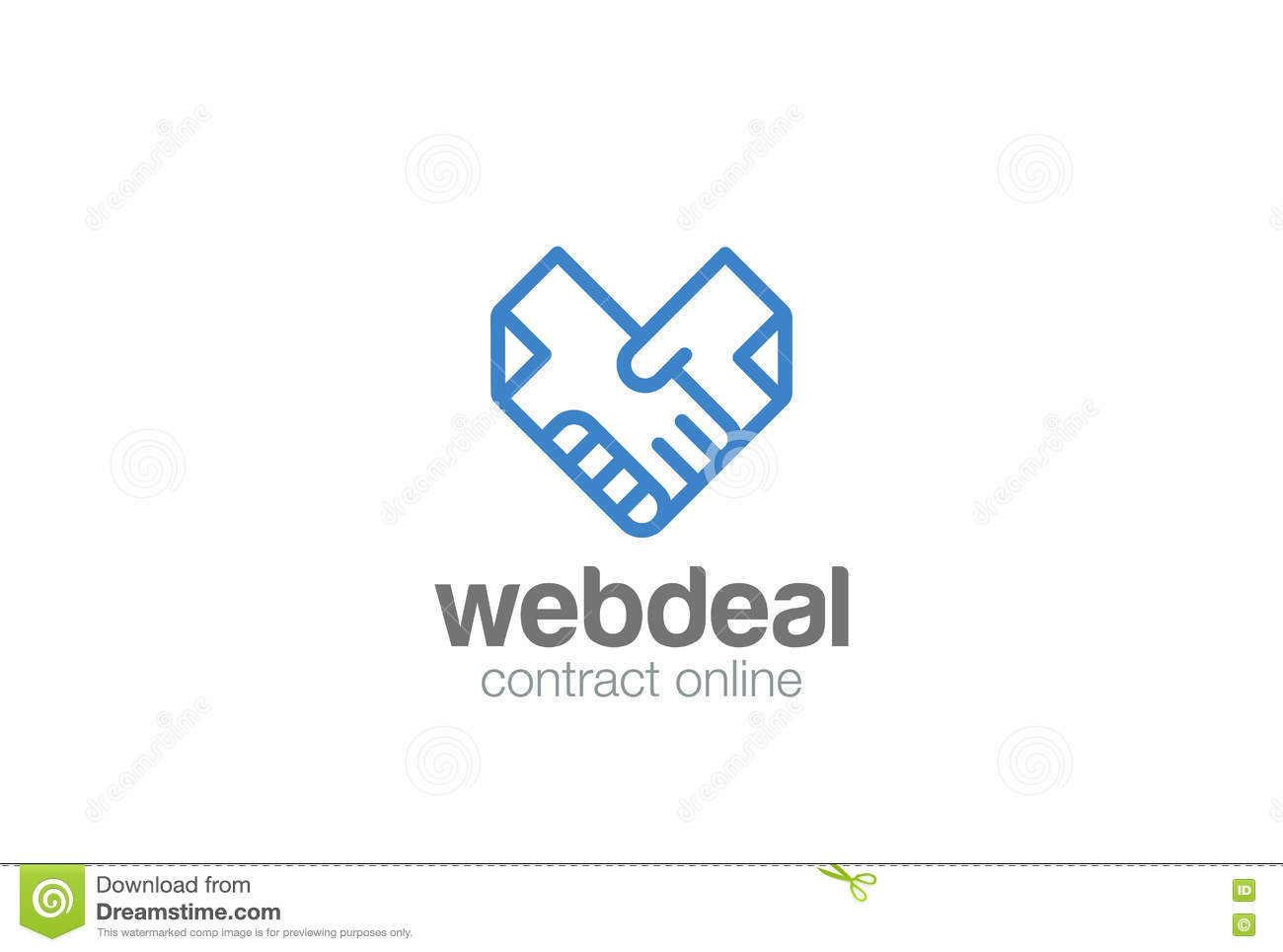 logo use agreement template - vector deal partnership agreement middle east business