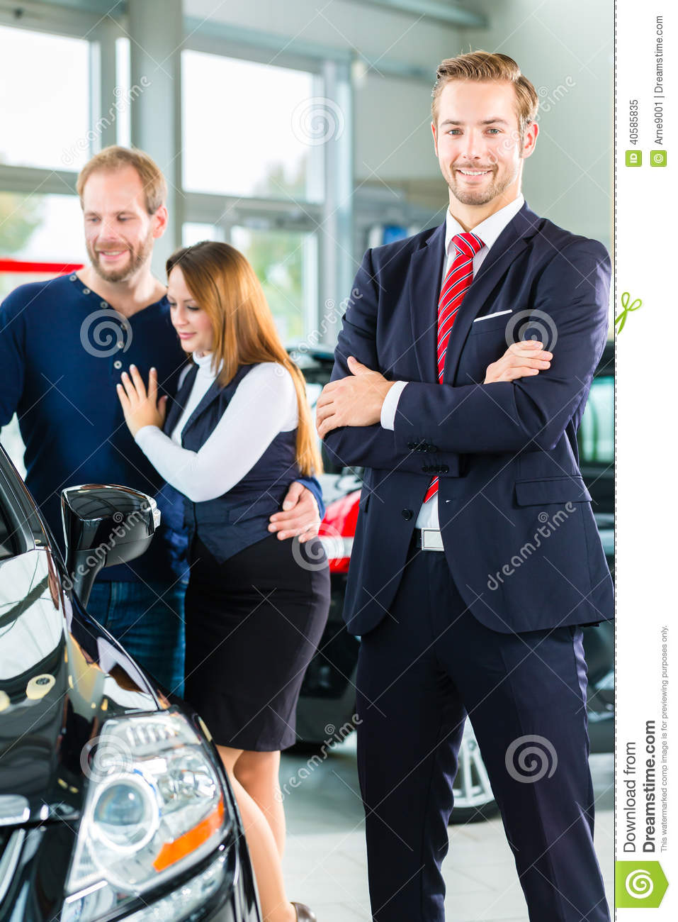 Dealer Clients And Auto In Car Dealership Stock Image Image Of