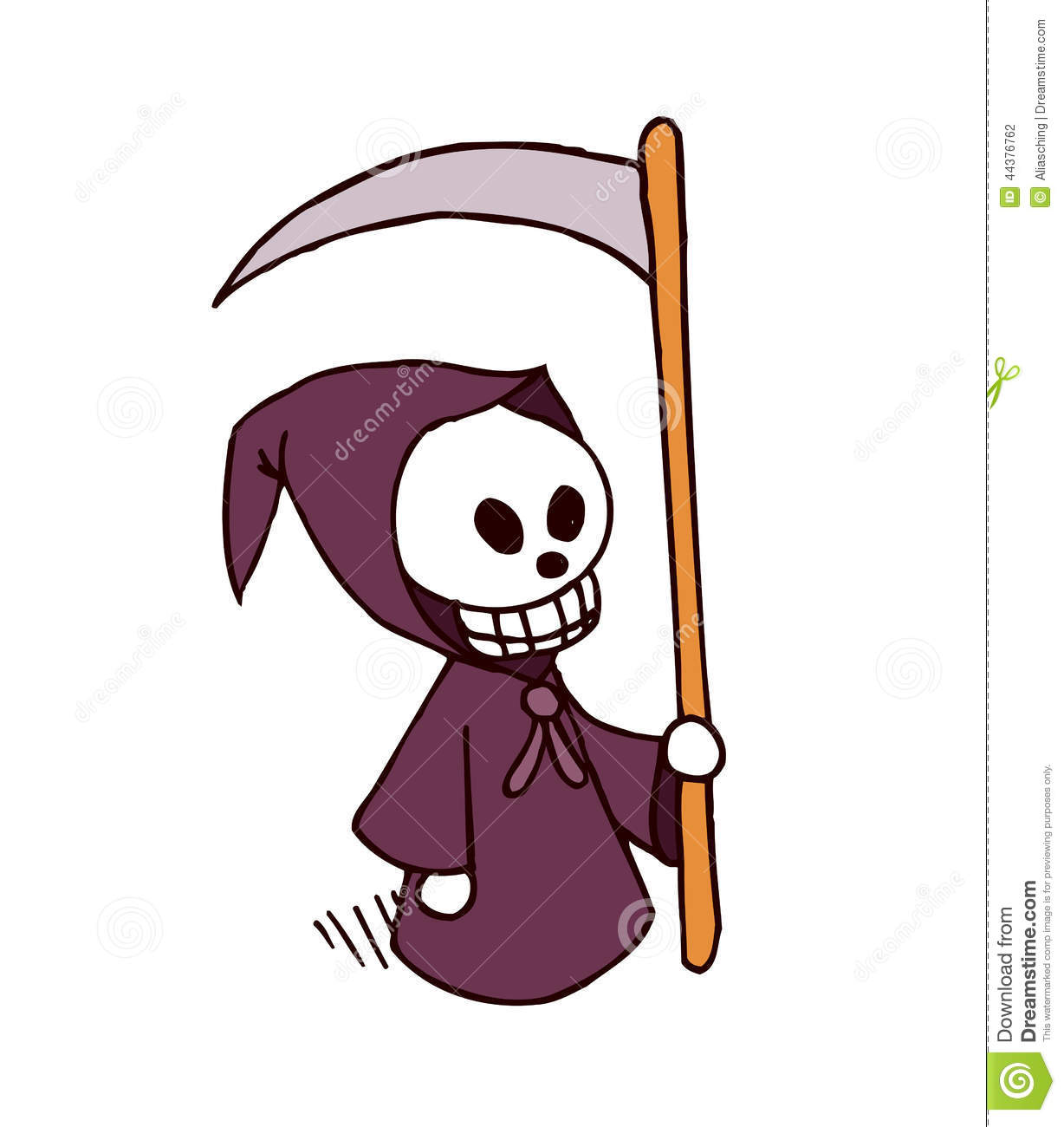 Death Cartoon Character Stock Vector - Image: 44376762