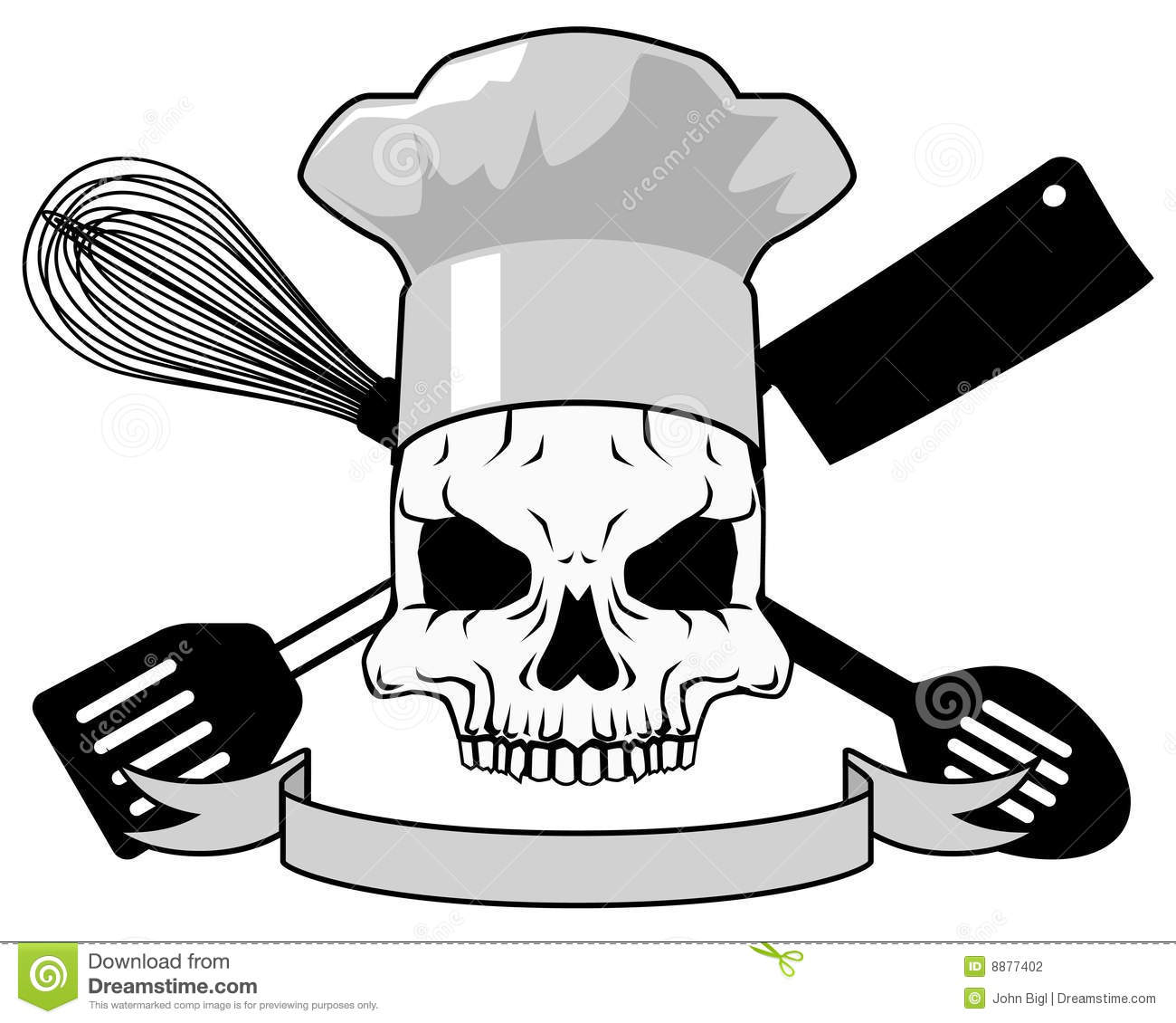 death chef tattoo design stock photography image 8877402. Black Bedroom Furniture Sets. Home Design Ideas