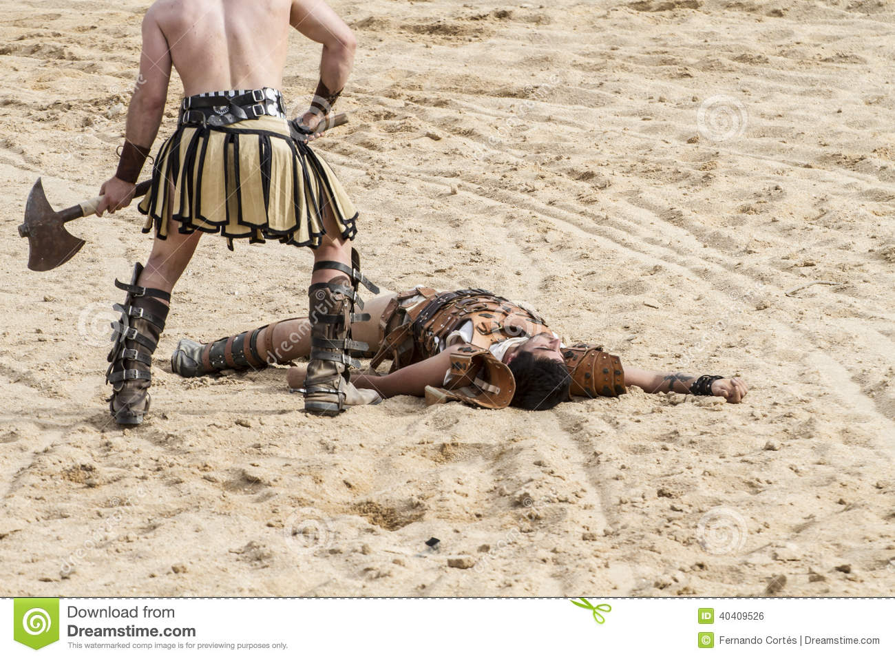 Death, gladiator fighting in the arena of Roman circus Editorial Photo