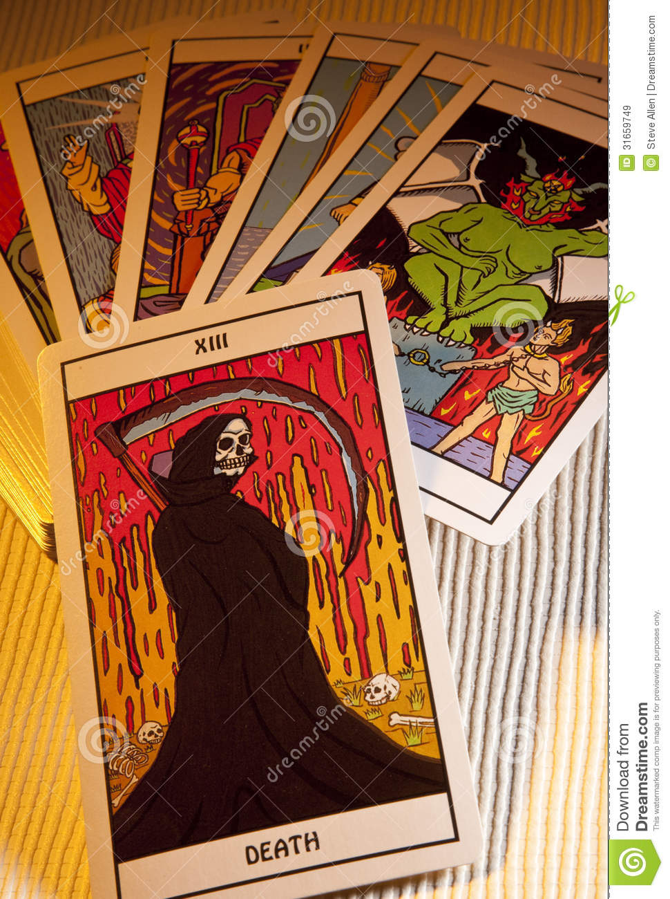 Using Tarot In Writing: Death Prediction Editorial Stock Image