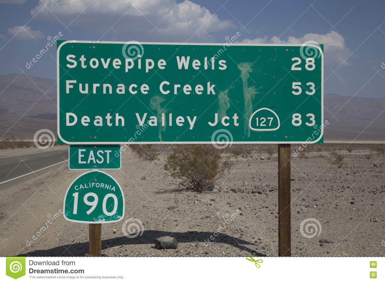 Death Valley Road Sign