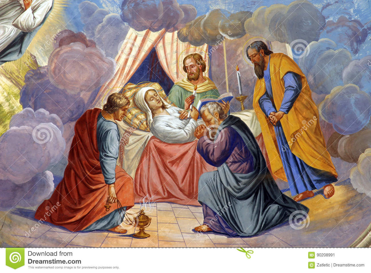 the death of virgin mary stock image image of holiness 90208991