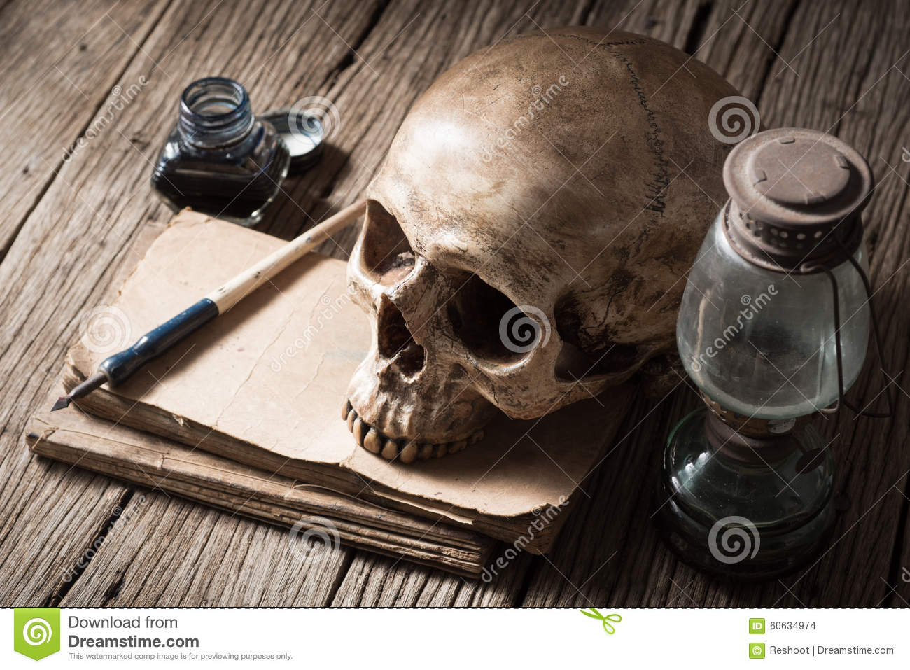 https://thumbs.dreamstime.com/z/death-writer-still-life-photography-skull-lamp-old-text-book-inkwell-dip-pen-old-wood-60634974.jpg