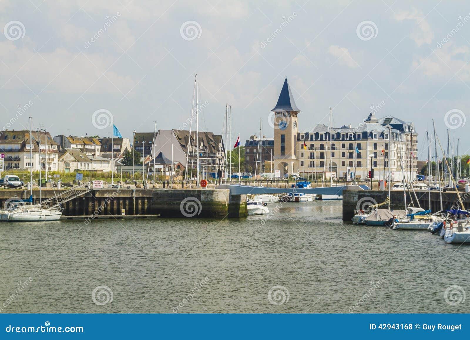 Deauville the yacht harbor