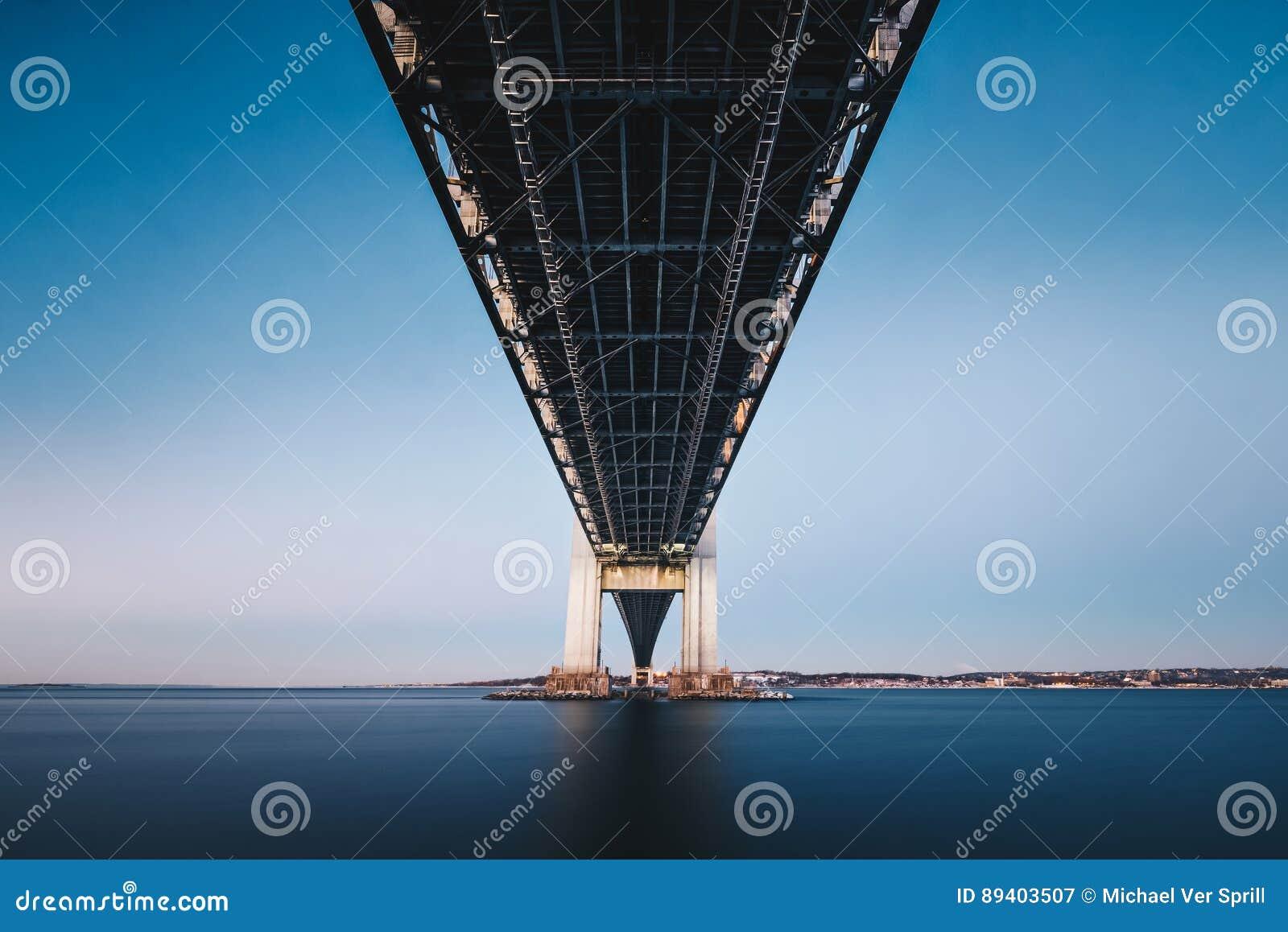 Debaixo da ponte dos estreitos de Verrazano