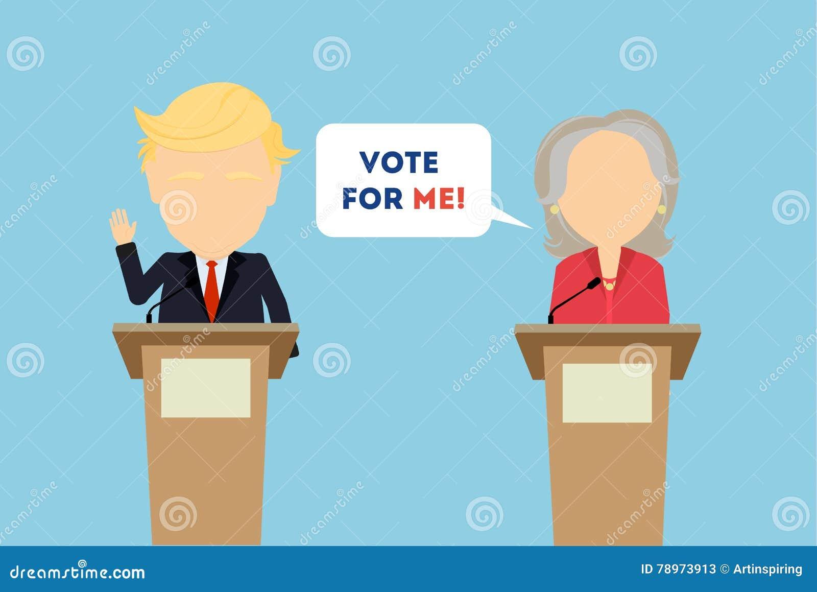 Debatten auf Wahl