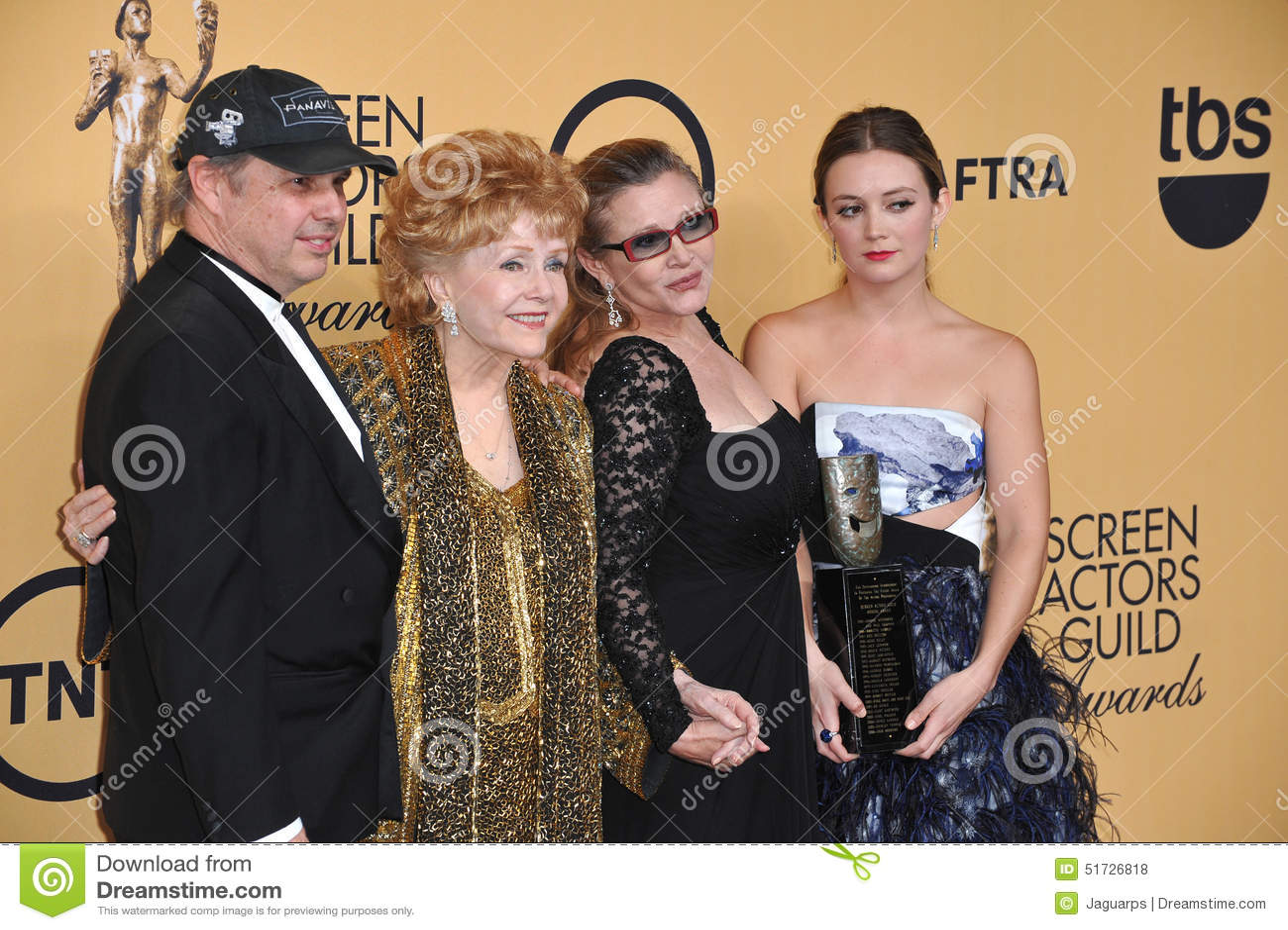 Debbie Reynolds u. Carrie Fisher u. Todd Fisher u. Billie Lourd