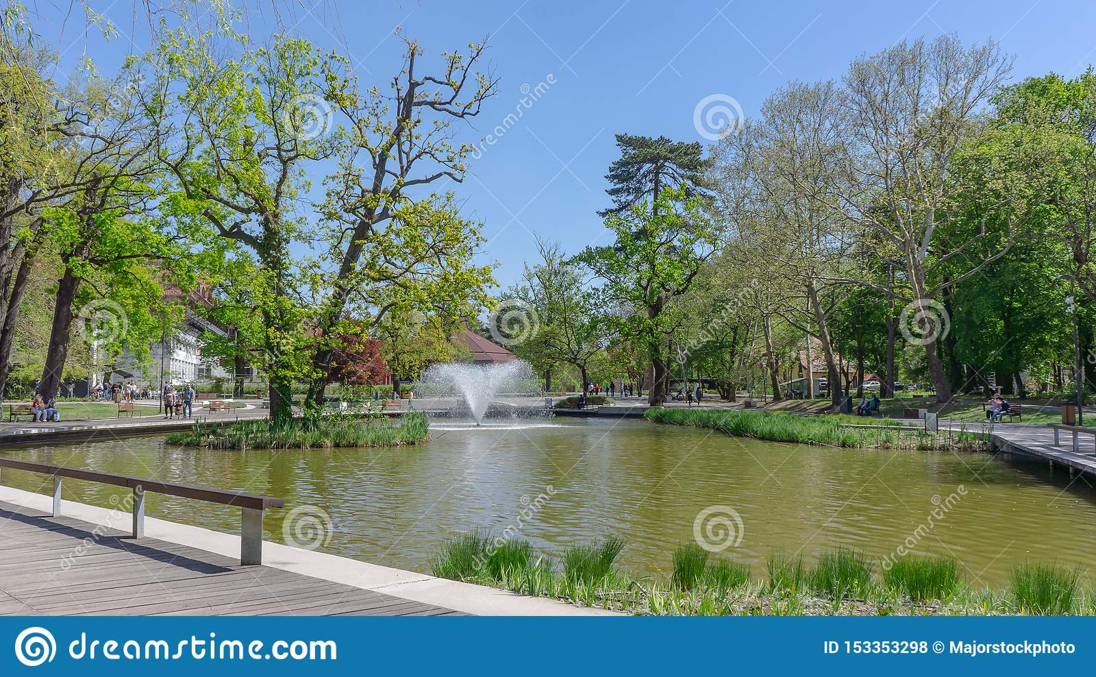 Debrecen Hungary 04 19 2019 Tourists And Locals Enjoy The ...
