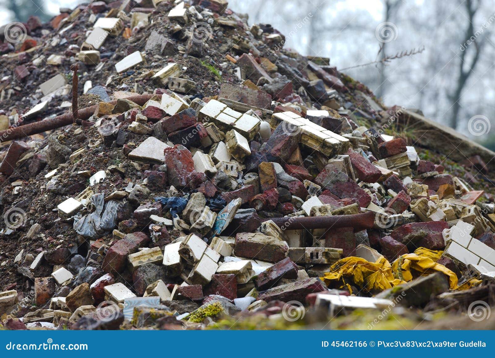 Pile Of Building Debris : Debris pile stock photo image
