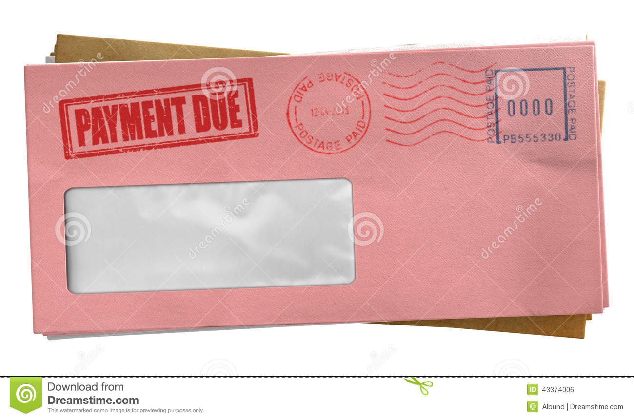 debt envelope stack stock illustration  image of advice