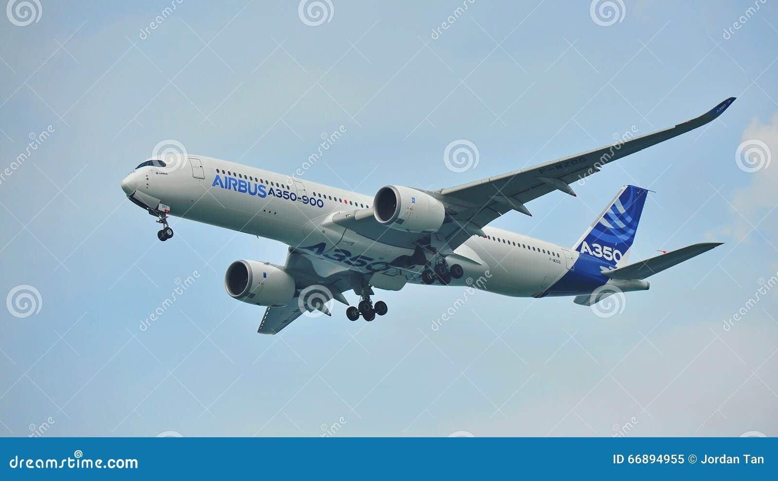Debutto di Airbus A350-900 a Singapore Airshow