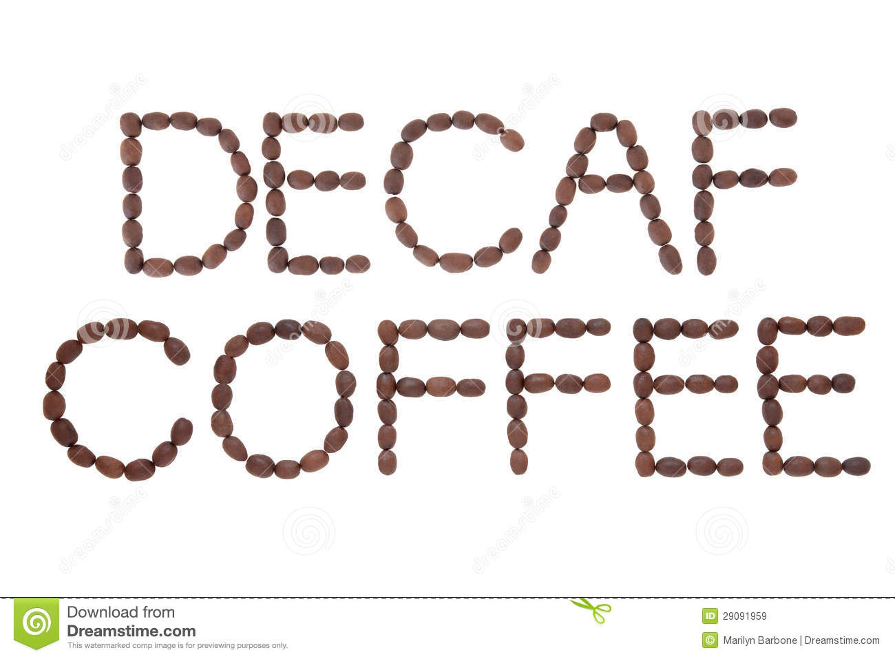 Decaf Coffee Sign Royalty Free Stock Images - Image: 29091959