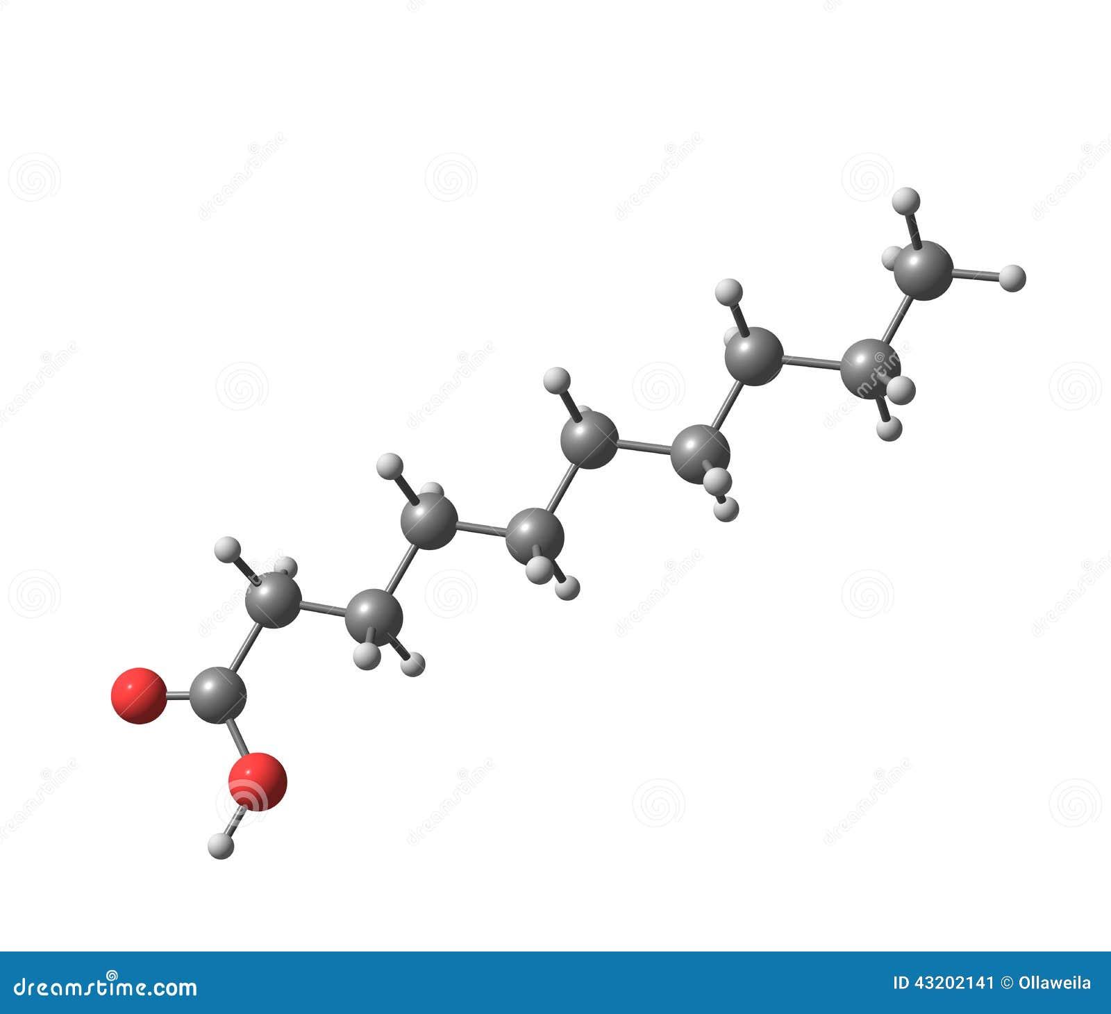 Download Decanoic (capric) Syrlig Molekyl Som Isoleras På Vit Stock Illustrationer - Illustration av molekylärt, snitt: 43202141