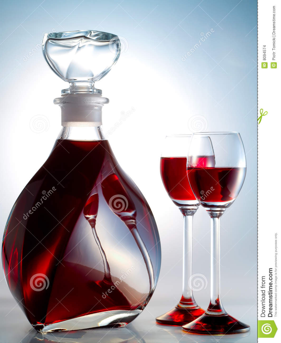 Decanter filled with liquor