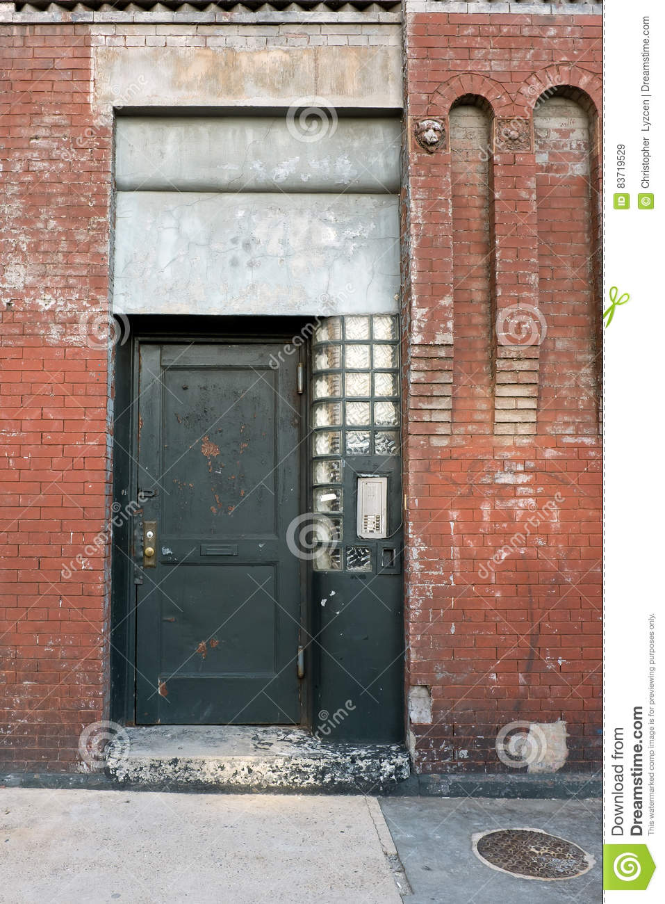 Decaying Urban Door Stock Photo