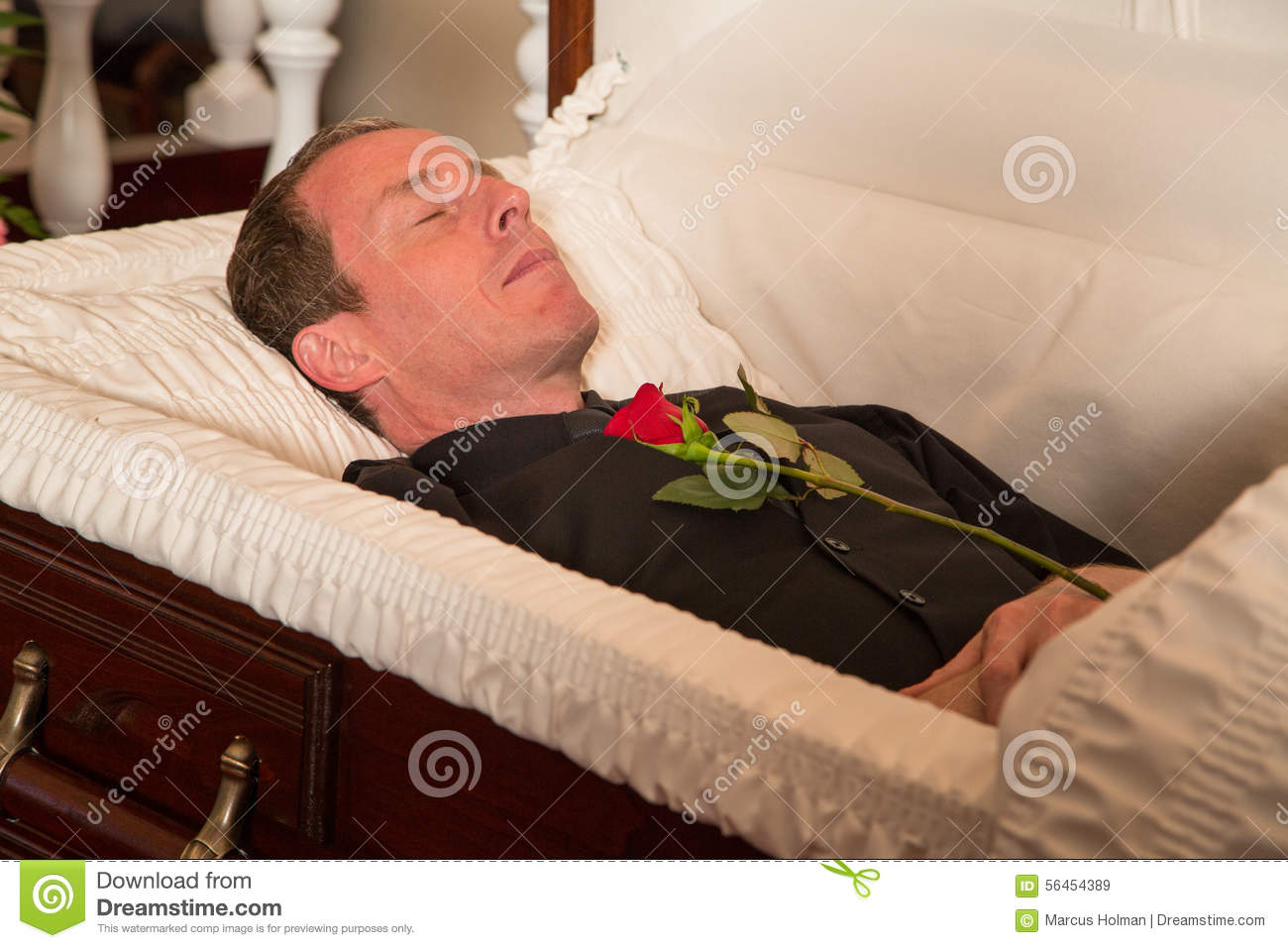 Deceased Man Stock Photo Image 56454389