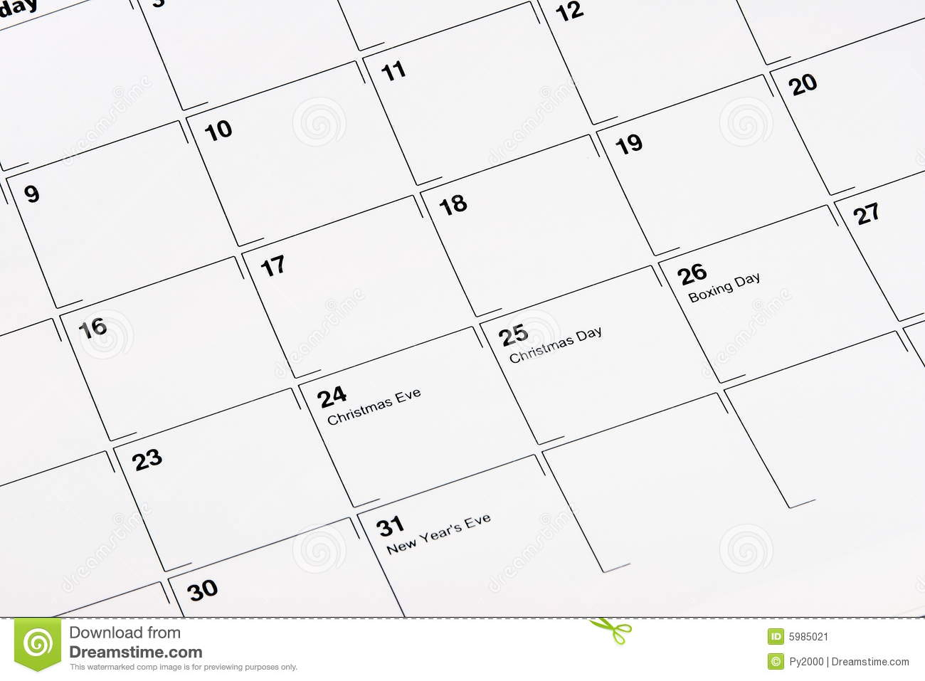 Download December Calendar stock image. Image of marked, fifth - 5985021