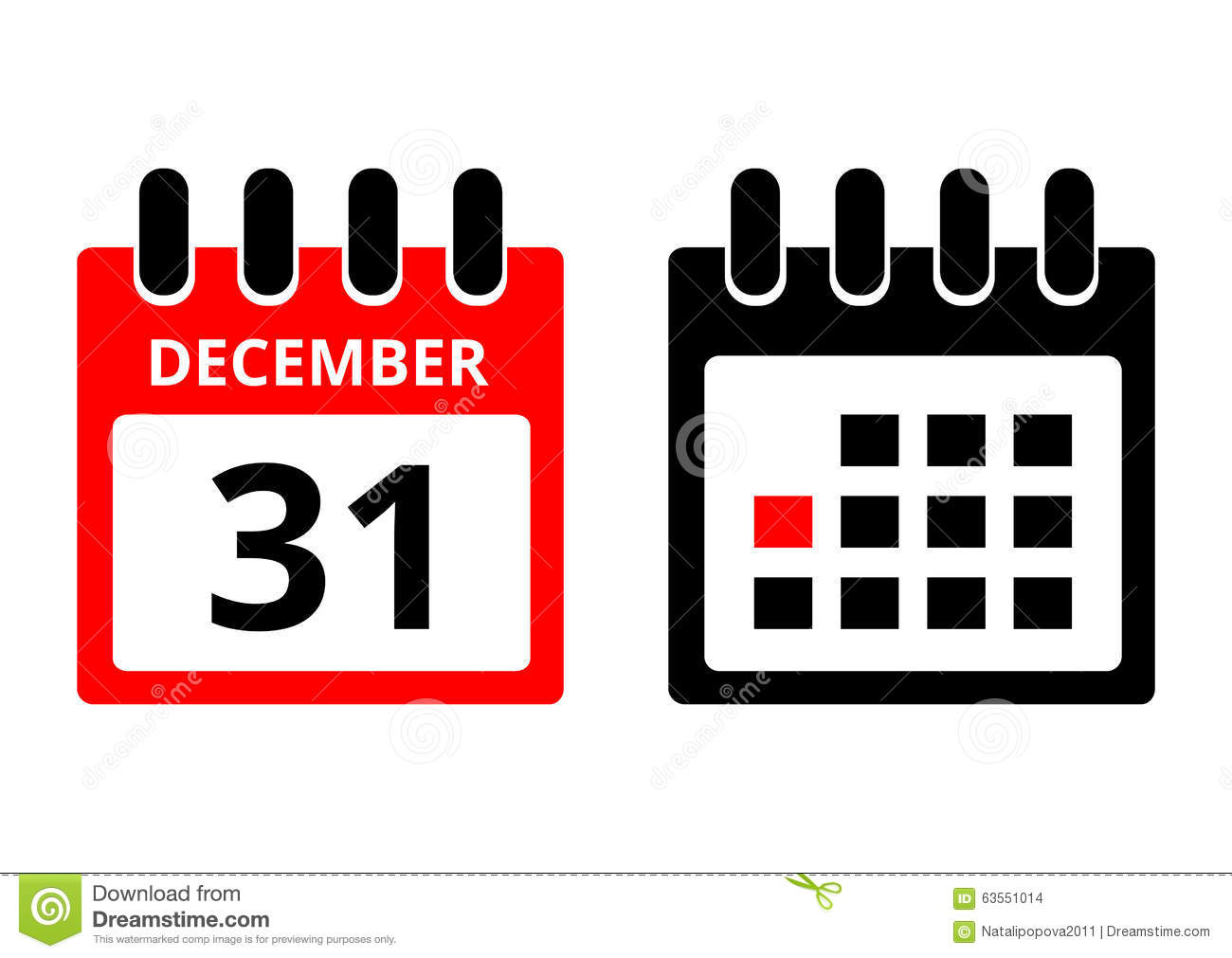 Calendar Graphic Icon : December calendar icon stock vector illustration of