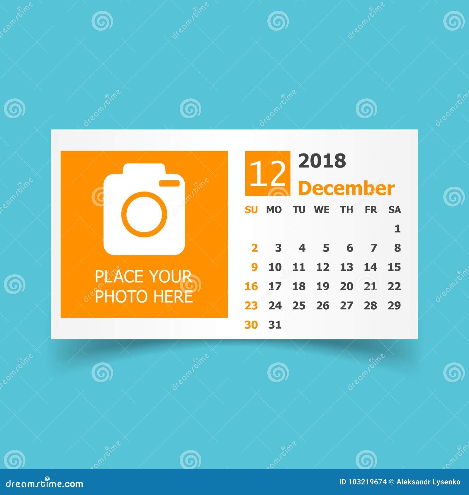 december 2018 calendar calendar planner design template with pl