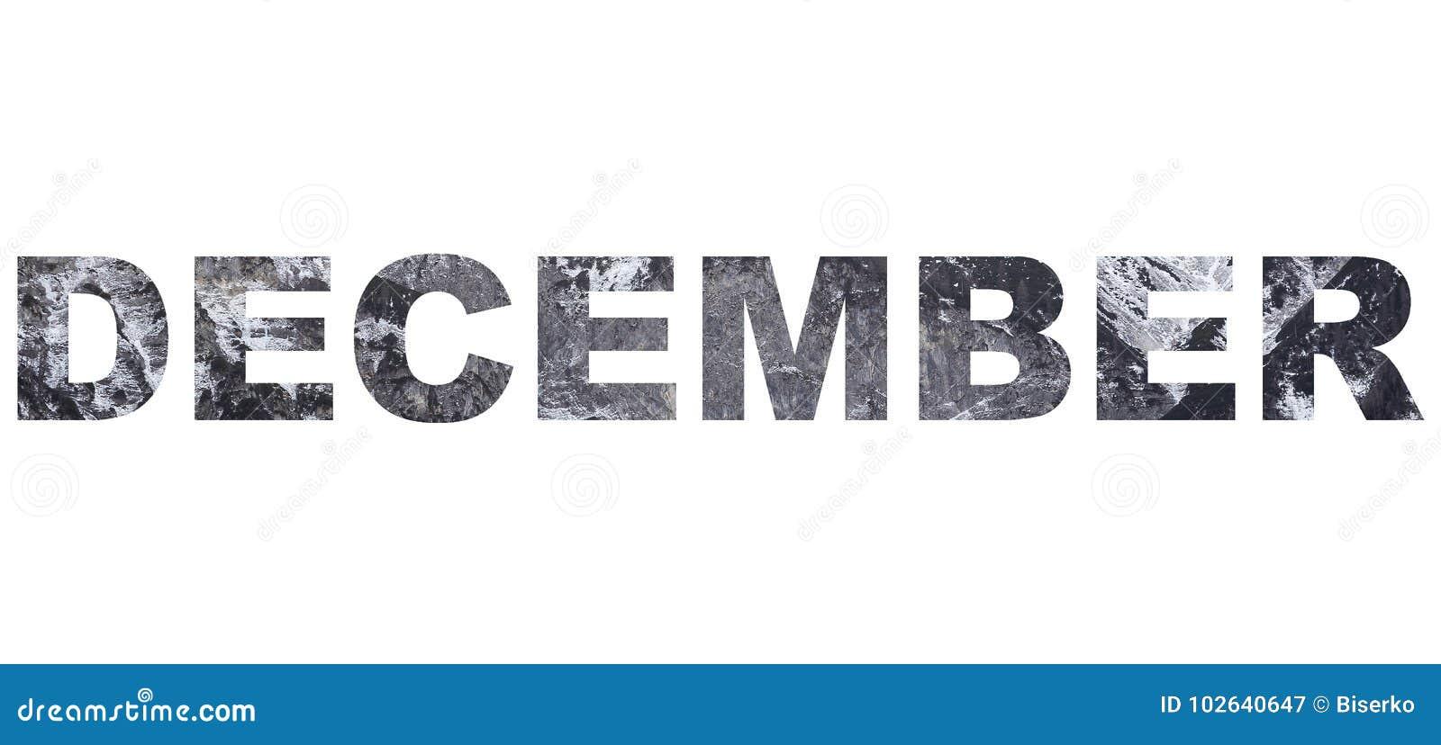 December winter month