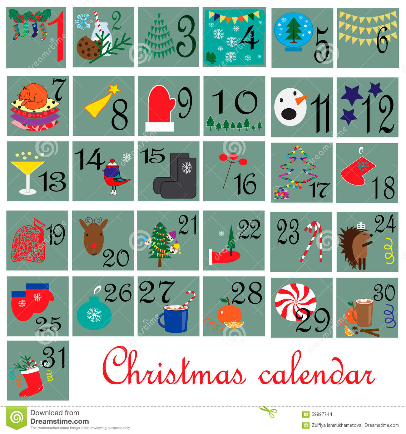 Calendar Month Illustration : December month calendar stock vector image