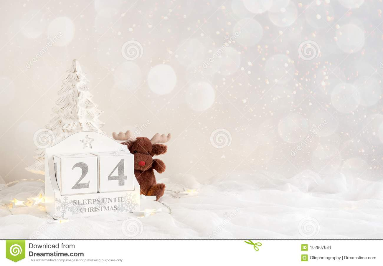 Christmas Calendar - 24 Sleeps Until Christmas Stock Photo - Image ...