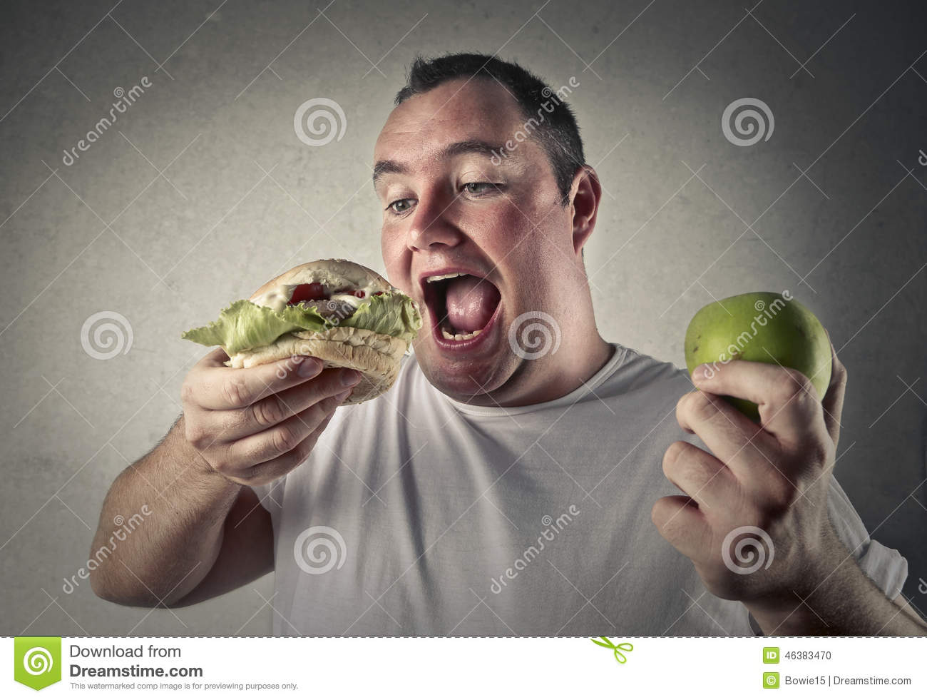 Download Deciding Whether To Eat Healthy Or Not Stock Photo - Image of select, whether: 46383470