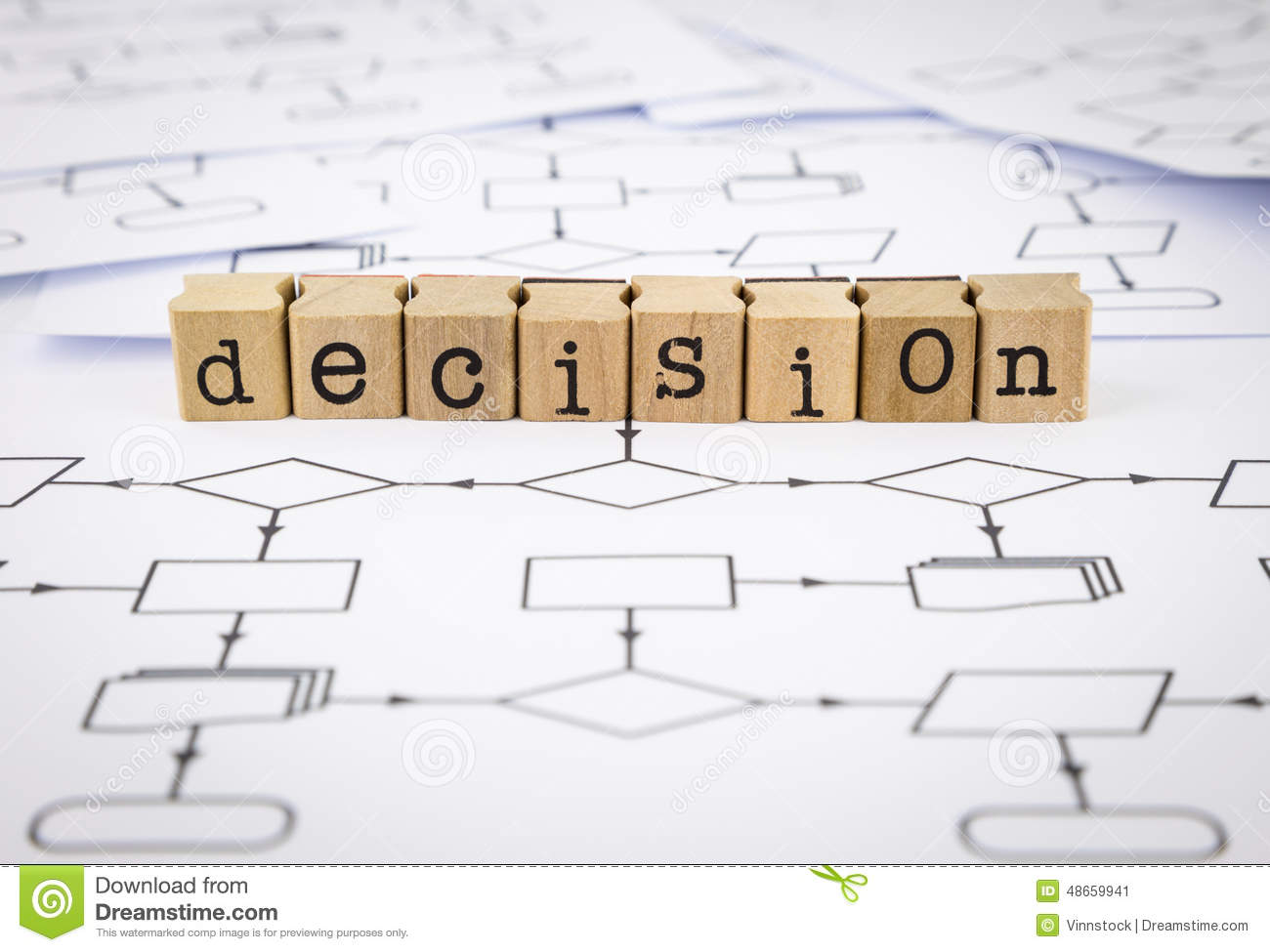 Decision Chart Word Stock Image Of System 48659941 Process Flow Diagram In