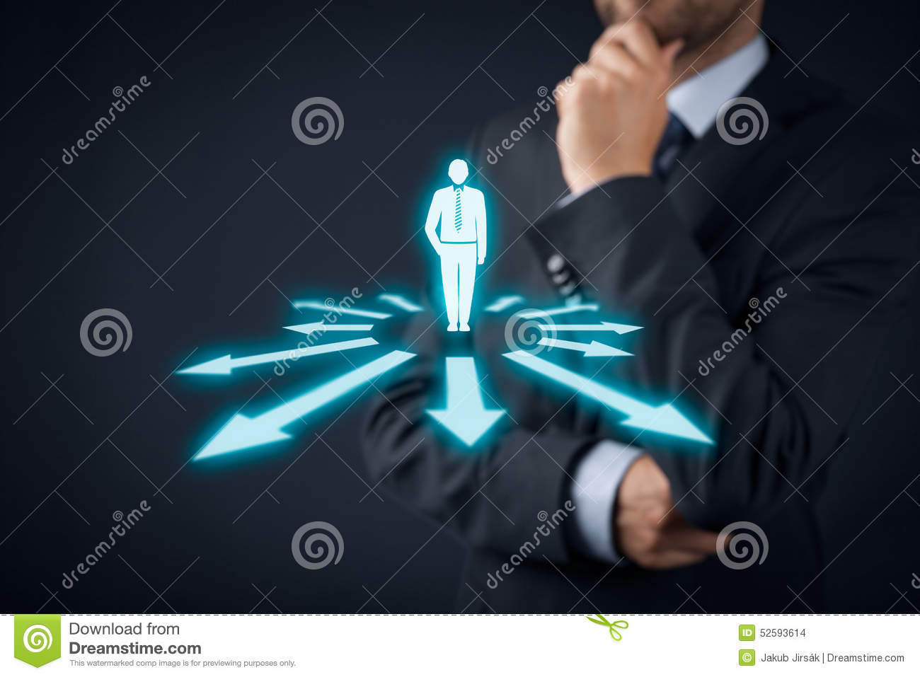 Technology Management Decisions: Decision Making Stock Photo