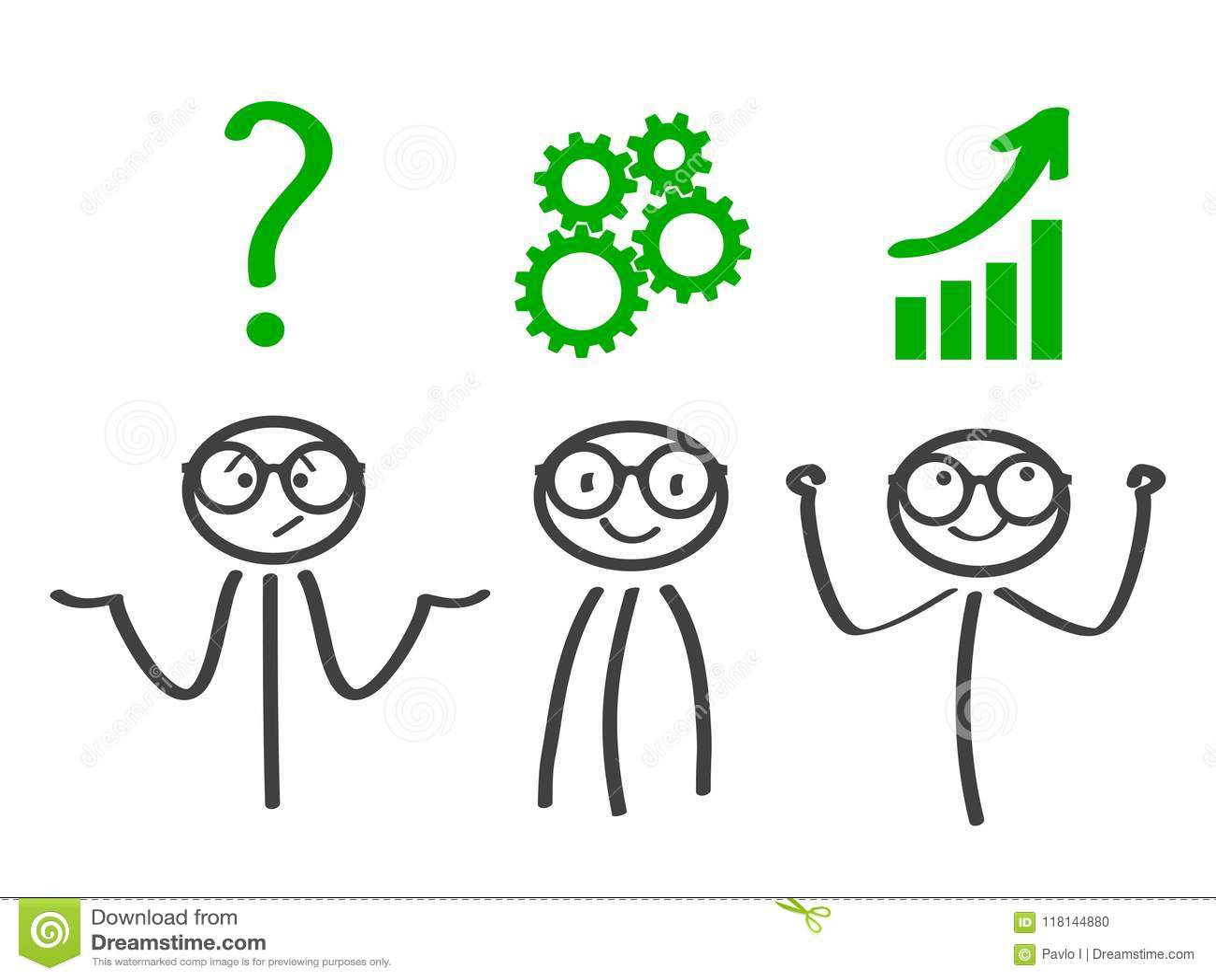 Decision Problem Solving Process Generator Ideas Succeed Vector