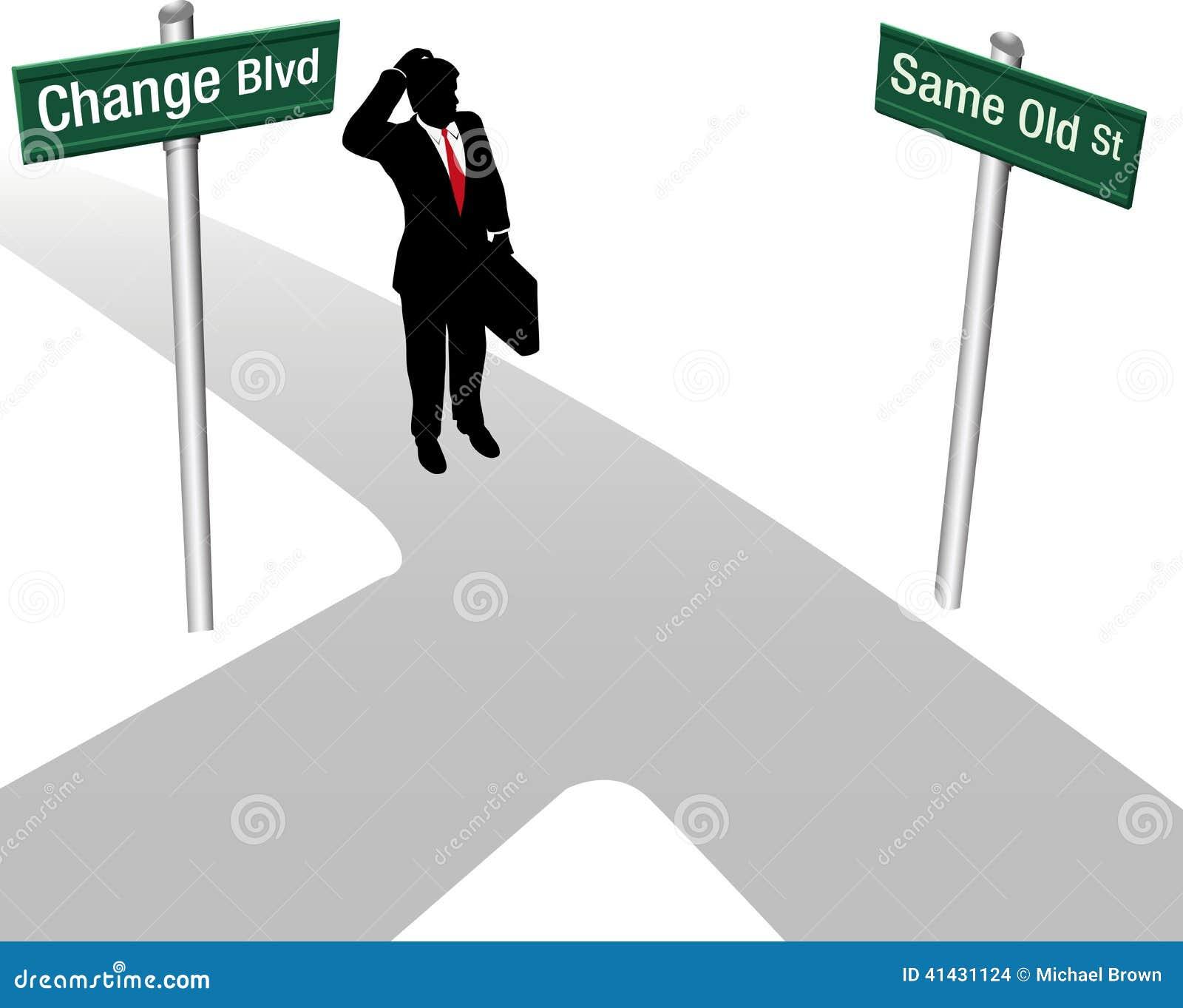 Decisione del cambiamento o di Person Choose Same