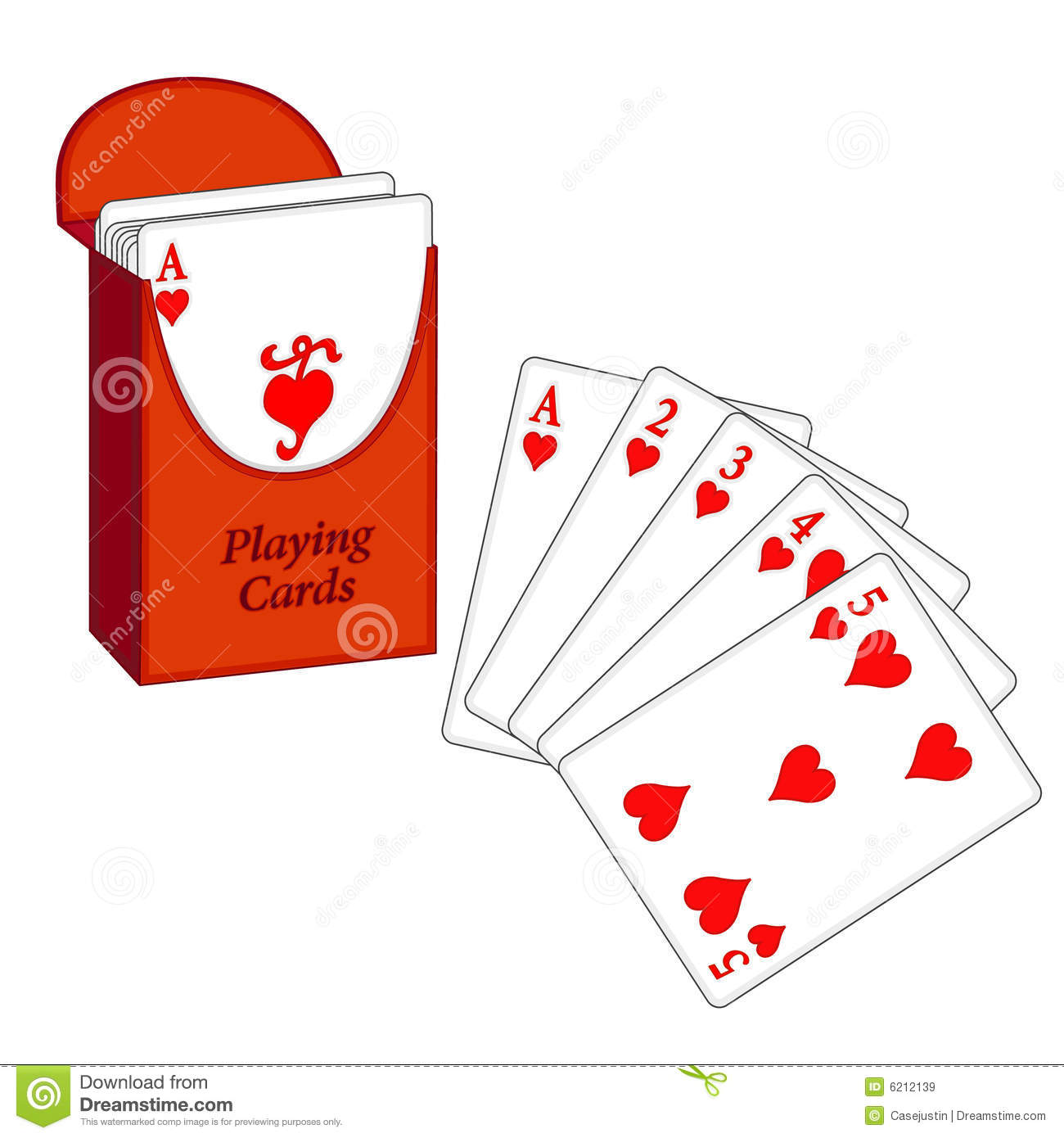 deck of cards flush stock vector illustration of gold 6212139 rh dreamstime com Playing Cards Graphics Card Symbols