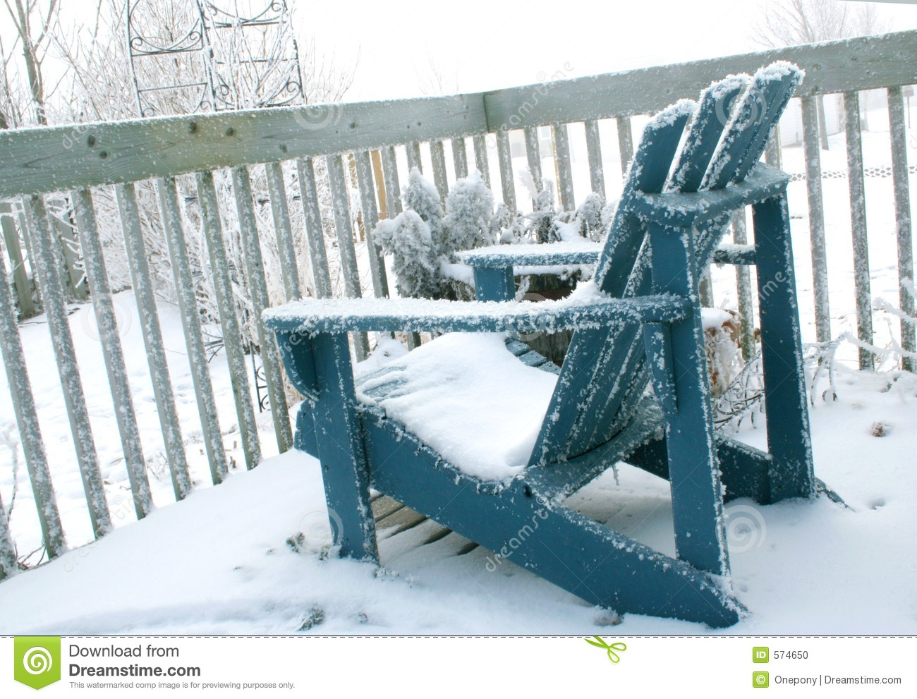 Deck Chair in Winter