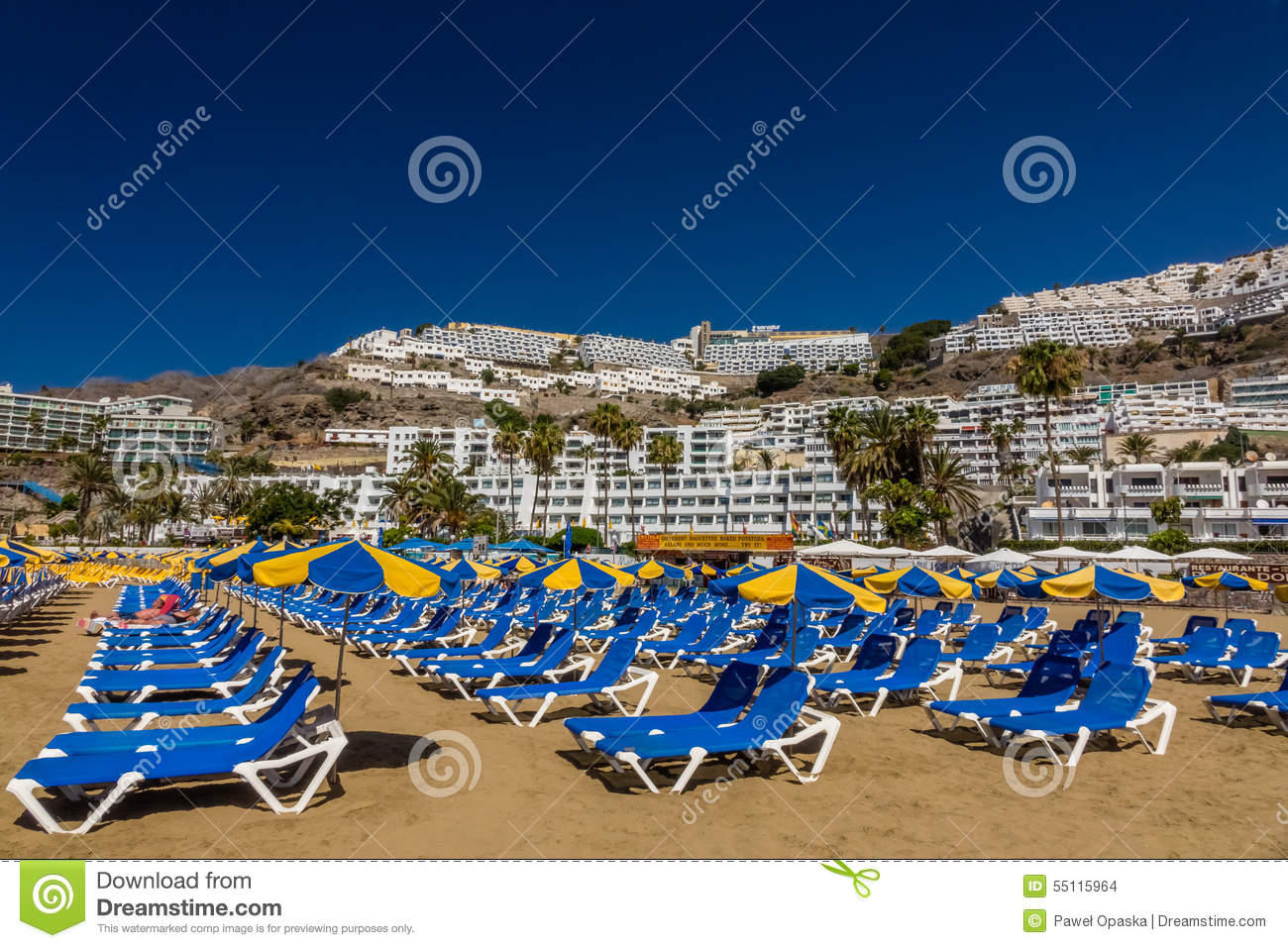 Deck Chairs To Sightseeing And Eating At The Beach