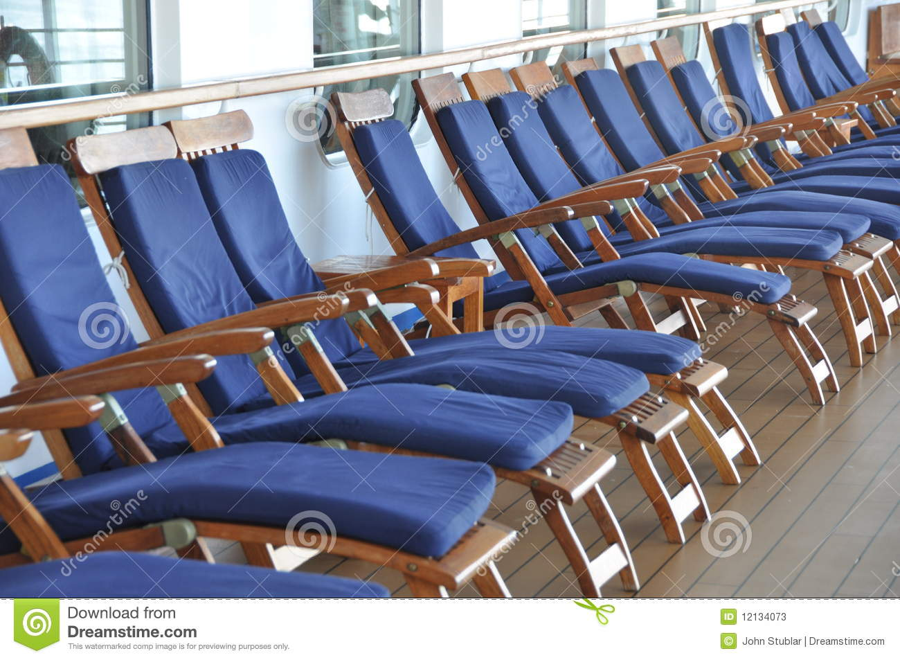 Deck Chairs On A Cruise Ship Stock Image Image 12134073