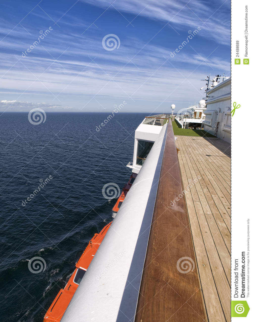 Download Deck Of A Cruise On A Sunny Day. Stock Image - Image of rest, good: 24488689