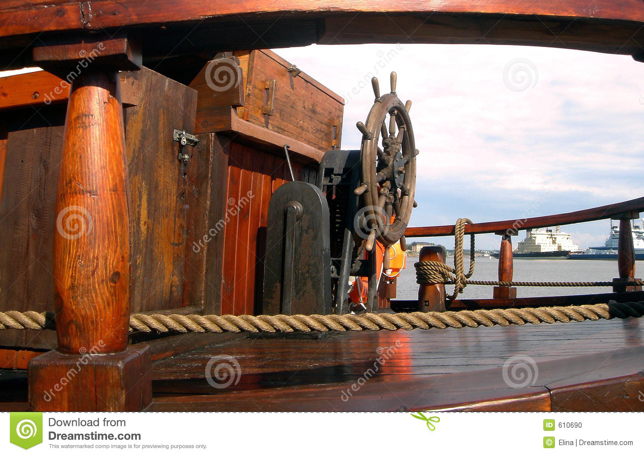 Deck Of The Old Ship Stock Photo Image Of Rope Cambox