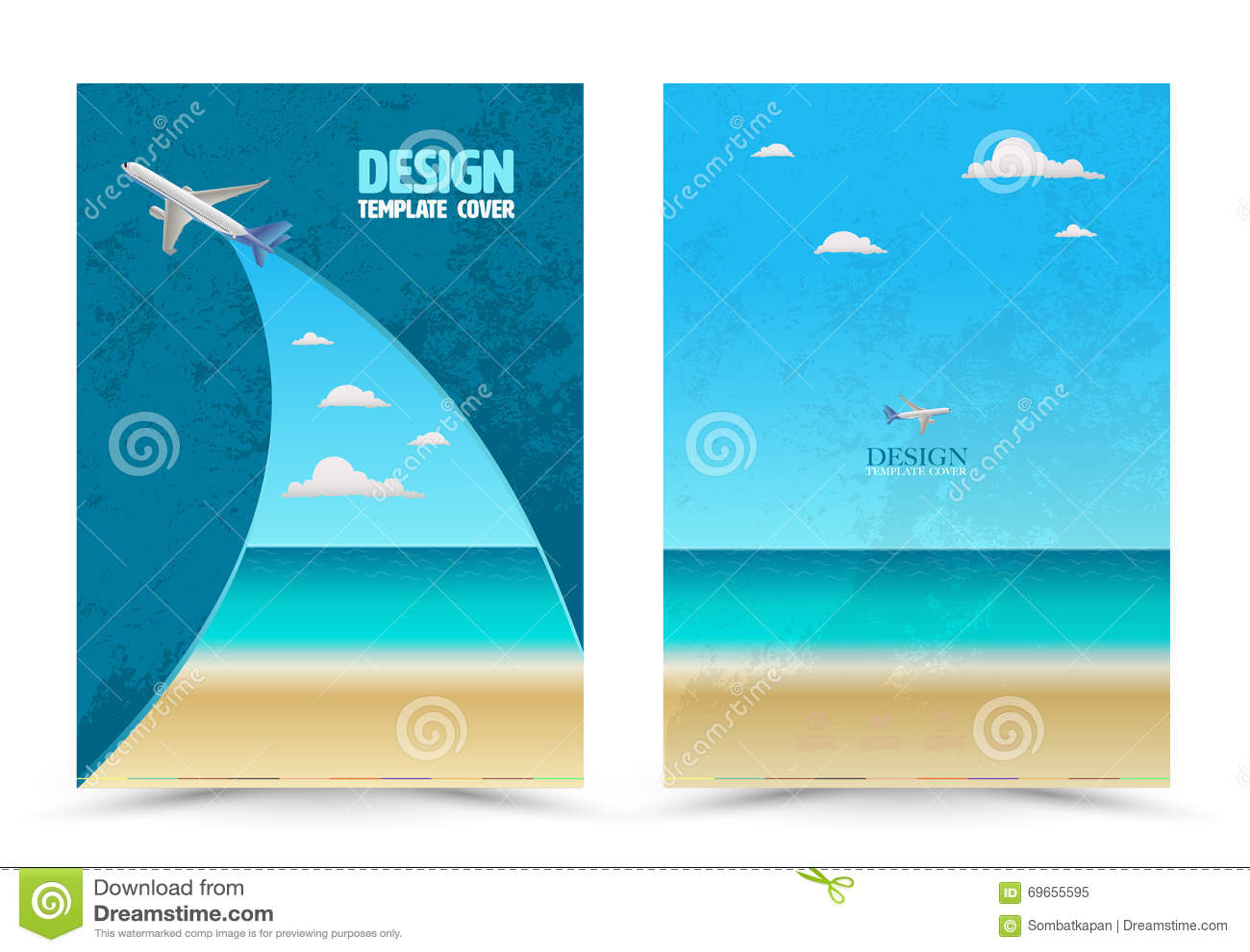 Deckblatt Planschablone Mit Flugzeug Vektor Abbildung Illustration